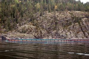 Att sanera slammet under odlingarna här vid Brattberget i Omnefjärden skulle enligt utredningen kosta tiotals miljoner kronor.