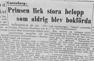Enligt det här rättegångsreferatet var prins Carl egentligen skyldig Gutenberg betydligt mindre än 435 000 kronor.