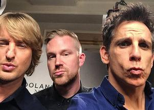 Owen Wilson, Erik Augustin Palm och Ben Stiller.