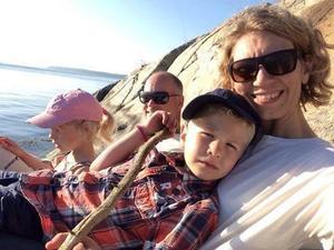 Här är familjen Flodmark på segling.
