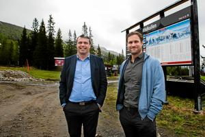 Daniel Kindberg och Markus Näslund ska bygga tillsammans på Rödkulle i Åre.