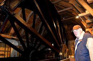 Det nuvarande vattenhjulet är en kopia av Christopher Polhems hjul från  1700-talet.