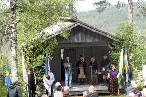Jörgen Steffansson höll tal och berättade bland annat om hur finnmarken en gång befolkades .