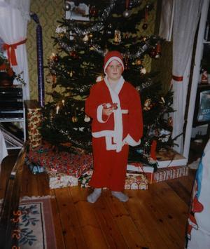 En jul långt innan Chris Kläfford klädde ut sig till tomte och gick runt till barnen i bygden.