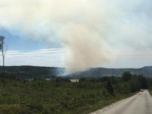 Skogsbrand i Sörvåge.