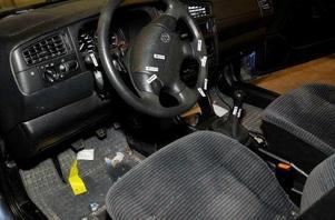 I den misstänkte 41-åringens bil hittades blodspår på ratten. Foto: polisen