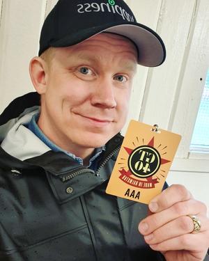Fredrik Lilliestråle Stéen från Hällefors ingår i turnéteamet med Gyllene Tider. Foto: Privat