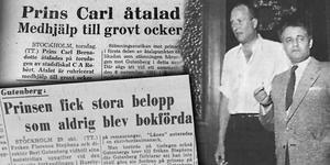 Prins Carl och Berl Gutenberg är kända som huvudpersonerna i den så kallade Husebyhärvan.  Bild: Minnenas Journal/NT. Montage: Terese Westberg Sunesson