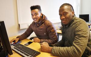 Chanserna att få jobb direkt efter utbildningen är en stor anledning till att Simon Neby och Bendjabi Moustapha sökt sig till Rinman.