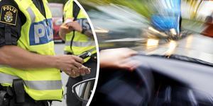 En bilförare greps på Segersängsvägen i onsdags. Hon är  nu misstänkt för rattonykterhet. Foto: Kristina Laitinen; Gorm Kallestad/TT