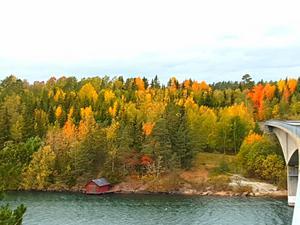 Utsikt från Vätöbron oktober 2018.Foto: Jan Skjöldebrand