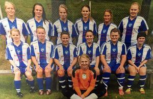 Josefin Snell, trea från vänster i nedre raden, spelade i Nornan under sju säsonger. Till och med efter att hon flyttat tillbaka till Falun och tvingats pendla till träningar och hemmamatcher.