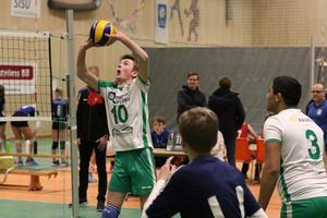 Senast U16-mästerskapet i volleyboll i Falköping genomfördes var i april 2019, varifrån den här bilden, som visar ett lag från Floby VK, är tagen. Nu blir det tyvärr inget mästerskap detta år.