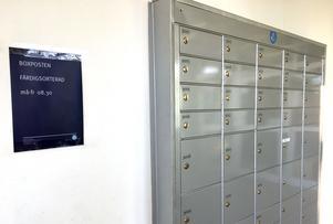 Sverigedemokraternas postbox hos Postnord på Kolvägen i Sundsvall tömdes inte under en period förra året, vilket resulterade i obetalda räkningar.