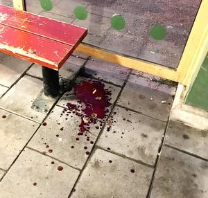 På onsdagsmorgonen upptäcktes ett blodspår som ledde runt stora delar av centrala Västerås.