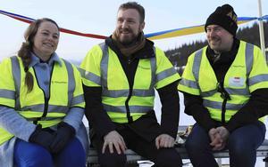 Kari Anita Furunes (Sp), kommunstyrelsens ordförande i Meråker kommun, Tomas Iver Hallem (Sp), vice fylkesordförande i Tröndelag och Daniel Danielsson (C), kommunstyrelsens ordförande i Åre kommun.