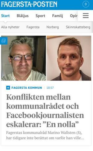 Fagersta-Posten skrev i veckan om den kampanj som den swishfinansierade journalisten Ola Wahlsten driver mot kommunalrådet i Fagersta, Marino Wallsten (S).