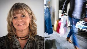 Annette Lindow, marknadsansvarig för Mittpunkten, berättar att Mittpunkten genomfört flera uppskattade pandemiåtgärder för att alla kunder ska känna sig trygga och säkra. Foto: Göran Strand