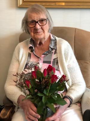 Det är svårt att tro det, men Eva Andersson är faktiskt den näst äldsta personen i Örebro. Foto: Privat/Jane Viding