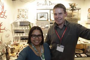 Cathy och Per-Erik Dillner visade upp produkter från Smadi Design.