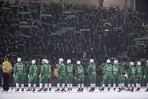 Så här såg det ut på Zinken i semifinalserien i fjol när Hammarby och SAIK möttes. Bild: Sören Andersson / TT