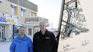 Mats Zetterman och Kent Ström har hamnat i limbo-läge, på grund av nya vägdragningen.