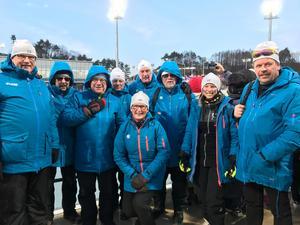 En skara av Kallas fanclub på plats i Sydkorea under OS för att heja fram skiddrottningen till flera framgångar.