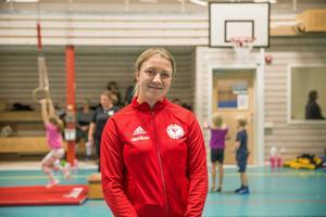 Evelina Björkqvist från Nykvarns gymnastikförening är taggad på den kommande idrottsdagen.