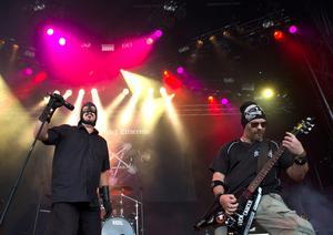 Bild på The kristet utseende från en spelning på Sweden Rock Festival 2016. I helgen gör de sin sista dalaspelning nånsing, på Liljan i Borlänge. Bild: Erik Nylander/TT