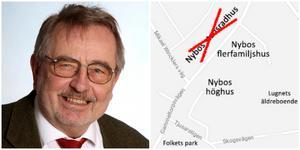 Seniorlägenheter saknas i Nykvarn, säger Göran Nygren. Han vill inte fördröja arbetet, men ändå hålla dörren öppen för att kapa antalet våningar på Nybos planerade höghus.
