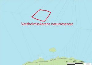Nästan mitt i Siljan utanför Vaverön ligger Vattholmsskären.
