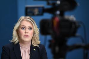 Socialminister Lena Hallengren (S). Foto: Fredrik Sandberg/TT