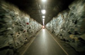 Tunnel i Musköbasen. Foto: Lennart Nygren /TT