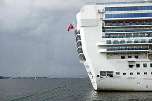 Fartyget på bilden har inget med insändaren att göra. Foto: TT