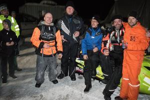 Peter Kättström, Tomas Elvendahl, Christer Montelius, Stefan Lind och Henrik Johansson var trötta men glada över att få komma hem.