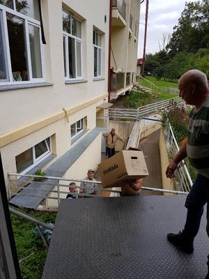 Urlastning i Urga i Lettland. Foto: Privat