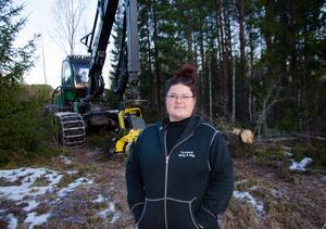 Jennie Sandström stortrivs med jobbet som skogsmaskinförare.