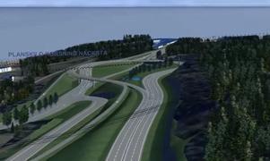 Så här är tanken att den nya planskilda korsningen vid Timmervägen och E14. Bild: Trafikverket