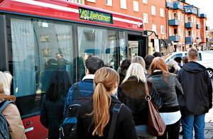 Bussen till Liljeholmen. Foto: Mats Andersson