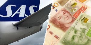 Resenärerna har anmält SAS till ARN och kräver kompensation. Fotomontage: Daniel Gustafsson/Pontus Lundahl TT