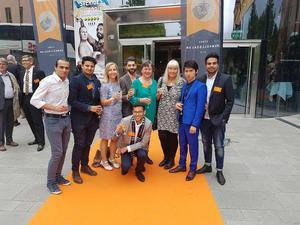 It-guides verksamhetschef Gunilla Lundberg tog emot priset på Cirkus i Stockholm i går kväll.