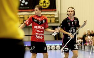 Emil Ruud, till vänster, och Malte Lundmark – i olika tröjor.