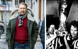 Michael Andersson blir ny ny chef för förenings- och anläggningsenheten i Södertälje kommun. 1987 fick han lyfta UEFA-cuppokalen tillsammans med lagkamraten Glenn Hysén efter IFK Göteborgs finalseger mot skotska Dundee United. Foto: Claudio Bresciani/TT och AP Photo
