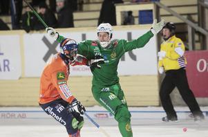 Adam Gilljam under den intensiva kampen på Sävstaås.