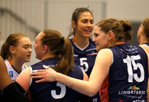 Nära, men inte hela vägen fram. Lindesberg Volley gick på en nit mot Hylte/Halmstad.