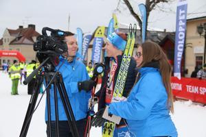 MittMedia Sports Oliver Åbonde och Sofia Fors intervjuar Terese Therell efter segern i Kristinaloppet i en av våra livesändningar från Engelbrektsloppet 2017.