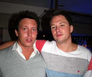 Blue Moon Bar. Marius och Peter