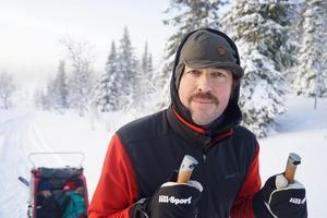 Poddaren bakom Lagom kondition, Niklas Bergh tränar inför Vasaloppet Foto: Nanna Bergh.