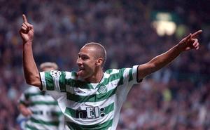 Henrik Larsson firar efter ett av över 200 mål i Celtic-tröjan. Än så länge är fotbolls-Henke den mest kände Henrik Larsson i landet.