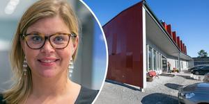 """Kommunalrådet Therese Kärngard tror att planerna för biblioteket kommer ha en positiv effekt. """"Det kommer skapa en synergieffekt,"""" säger hon. Fotomontage: Ingmar Reslegård."""